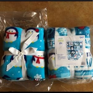 Other - 2 no-sew fleece throw kits - Winter Wonderland